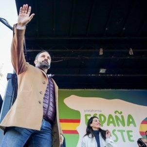 Santiago Abascal brazo Europa Press