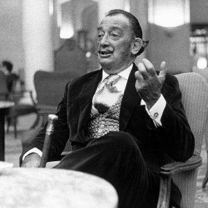 Dalí. El pintor, durant una entrevista. EFE
