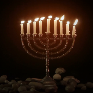 menorah with candles good for easter worship background for lyrics n15iwafze  F0000