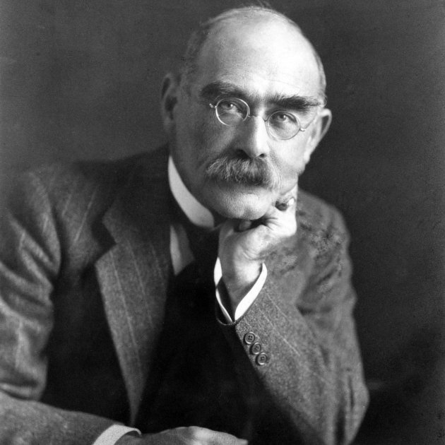 Rudyard Kipling, by Elliott & Fry (cropped)