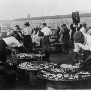 venda peix port arxiu fotogràfic de Museu Marítim barcelona