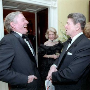 William F. Buckley, Jr. with President Reagan 1986
