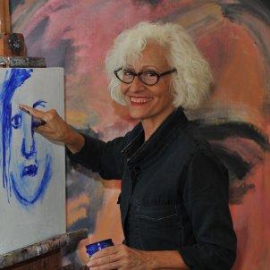 Carme Solé Vendrell, al seu estudi