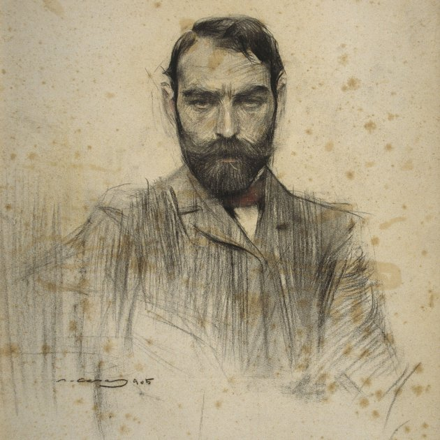 Ramon Casas   MNAC  Gustave Violet  027296 D 006452