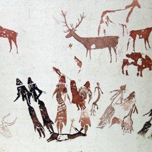 064 Pintures de la cova dels Moros, exposició al Museu de Gavà enric wikipedia