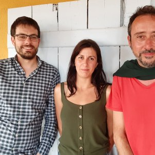 Albert Pijuan, Lucia Pietrelli, Adrià Pujol, autors de La vastitud