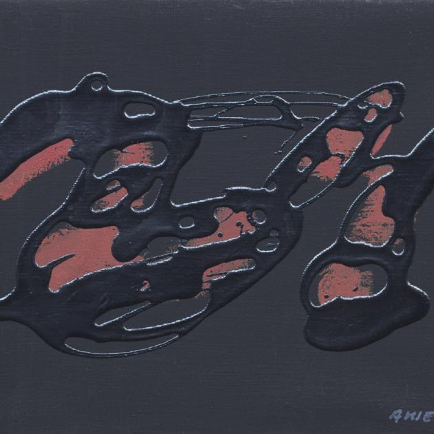 ENRIC ANSESA. Carmine sings   1991   20.4x25.2cm   Acrilic Tela