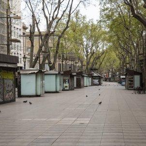 Coronavirus quiosc rambles la rambla estanc tancat barcelona - Sergi Alcazar