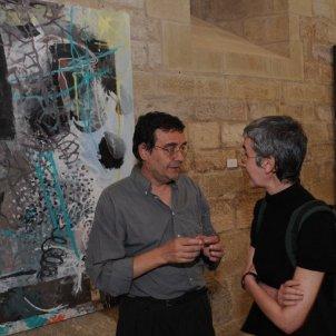 Pla obert de Xavier Grau i Charo Pradas a l'exposició 'Celebración de la pintura' al Monastir de Veruela el 2008/Galeria Miguel Marcos