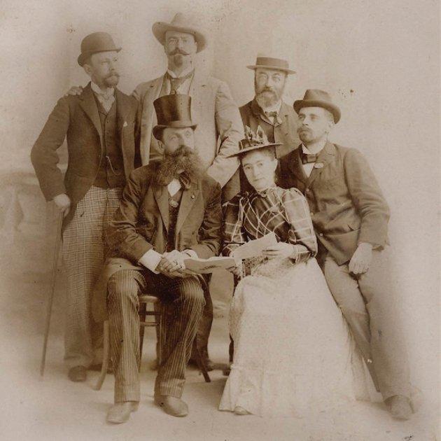 Clotilde Cerdà amb el jurat dels premis musicals de l'Exposició Universal de Chicago de 1893