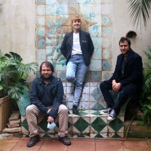Eugènia Broggi, Ricard Planas i Ricard Mas, editors de L'Altra i Males Herbes, respectivament/ACN