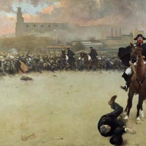 La Càrrega. Pintura obra de Ramon Casas (1899). Font Museo Reina Sofia