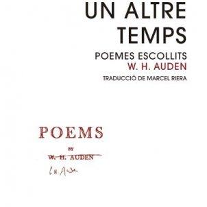 Portada Auden/Edicions 1984