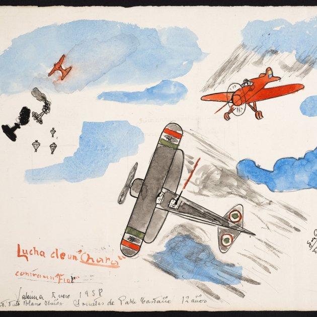avions volant born infància sota les bombes