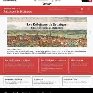 'Rubriques de bruniquer' Barcelona web portada