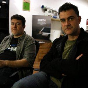 Taxpo Ortega i Xavier Artigas, al local de la productora Metromuster. Pau Cortina