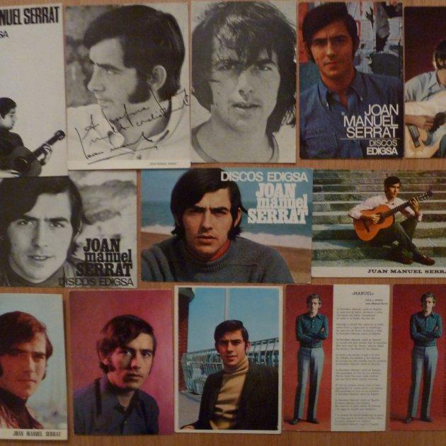 Postals discogràfiques de Joan Manuel Serrat