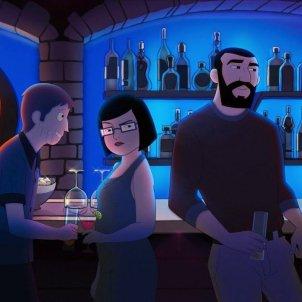 Els protagonistes del film d'animació 'Memorias de un hombre en pijama'. Memorias de un hombre en pijama