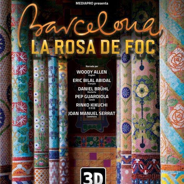 Cartell del documental 'Barcelona, la Rosa de Foc'. Filmoteca de Catalunya