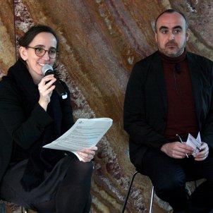 La directora Anna Ramos i el comissari Ivan Blasi. Lucía Franco de Paz ACN