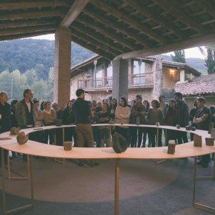 Instal·lació de Marc Larré per a la Bianyal (Vall de Bianya)