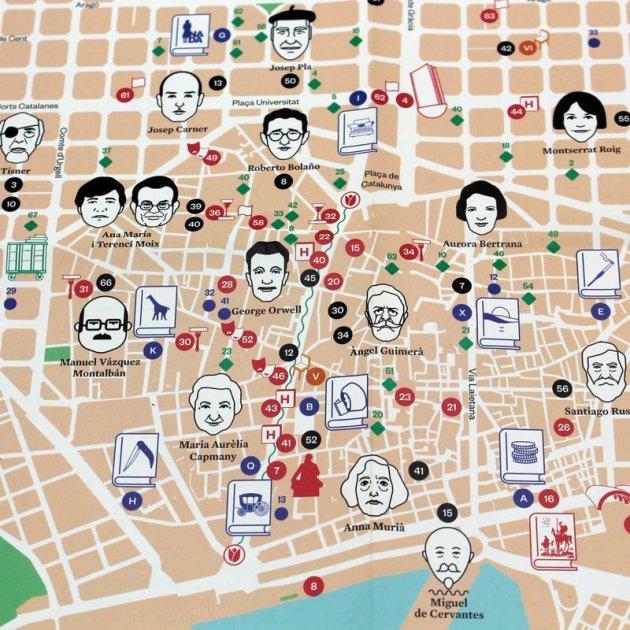 barcelona mapa literari @bcnliteratura