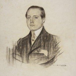 """Retrat de José Martínez Ruiz, """"Azorín"""". Ramon Casas/MNAC"""