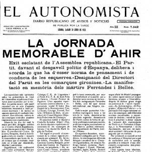cronica gran miting republica. Si la República hagués començat el 1923. Xavier Carmaniu