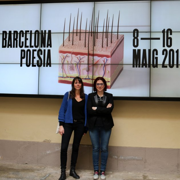 Mireia Calafell i Àngels Gregori. Barcelona Poesia. ACN
