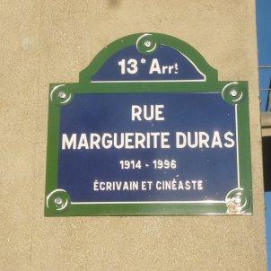 Paris 13e  Rue Marguerite Duras  plaque/Ordifana75