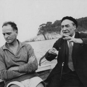 Manuel Ortínez i Josep Pla. Tamariu, 1960 Autor desconegut Fundació Josep Pla, col·lecció M.Teresa Rosa Fina