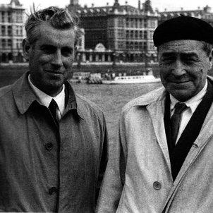 Josep Vergés i Josep Pla. Londres 1955. Autora: Maria Rosa Coma. Fundació Josep Pla, col·lecció Josep Vergés