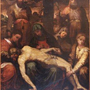 Reproducció de l'obra atribuida a Perin de la Vaga conservada al monestir de Poblet