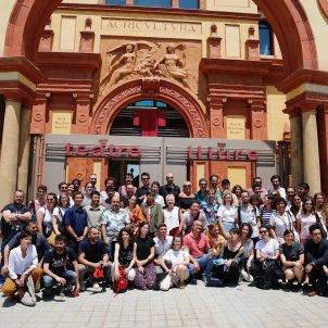 Foto de família de la presentació de la temporada 2019-2010 1r semestre Teatre Lliure. Sergi Alcàzar