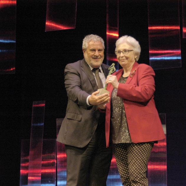 Josefina Molina rep el premi RTVA a la trajectòria. Canal Sur