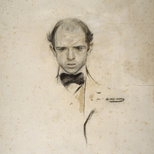 Mor Pau Casals. I'm a catalan. Dibuix de Pau Casals, obra de Ramon Casas. Font MNAC