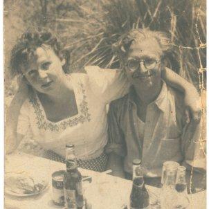 Pere Calders i Rosa Artís. Cedida per la família Calders Artís