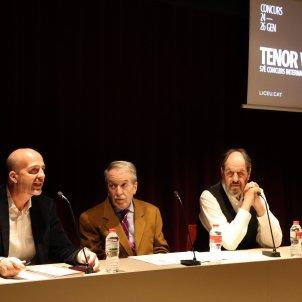 Presentació del Concurs Tenor Viñas, amb el president del Jurat del Concurs, Victor García de Gomar ACN