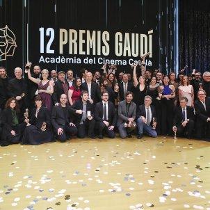 Foto de família dels guardonats als Premis Gaudí