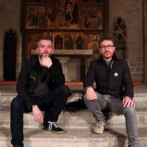 El director de l'Ensembe O Vos Omnes, Xavier Pastrana (dreta), que inaugurarà el Festival Llums d'Antiga, i el músic Bruno Hurtado ACN
