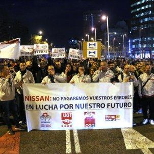 manifestació treballadors nissan consolat japó - acn