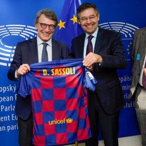 Bartomeu Sassoli Gerard Esteva Parlament Europeu Barca @barcelonafutur