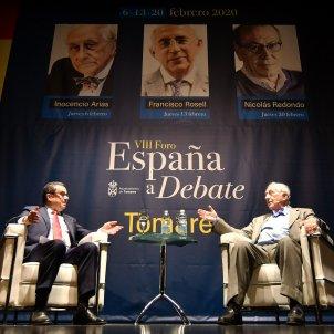 EuropaPress 2636834 Francisco Rosell e Inocencio Arias en el foro 'España a debate' de Tomares
