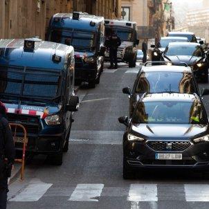 GRAN desplegament mossos comitiva sanchez barcelona - efe