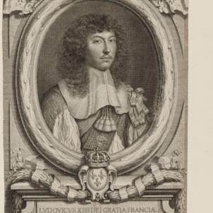 Imatge 1. Retrat de Lluís XIV (1660). Font Bibliothèque Nationale de France