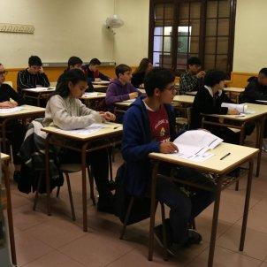 Alumnes 4rt ESO Institut Serrat i Bonastre de Barcelona ACN