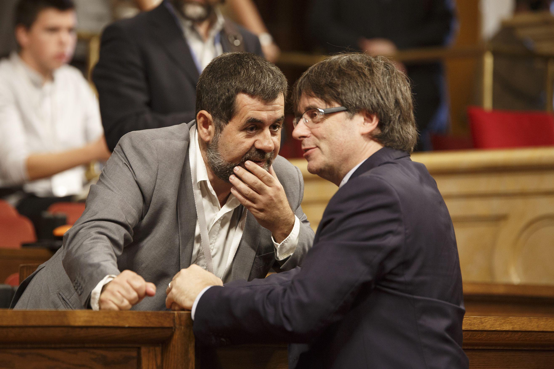 Jordi Sànchez i Carles Puigdemont - Sergi Alcàzar