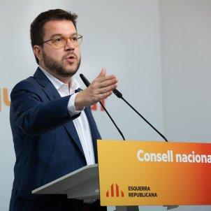 EuropaPress 2650767 Pere Aragonès en el Consell Nacional de ERC el 15 de febrero de 2020