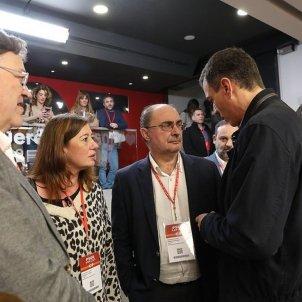 EuropaPress Javier Lambán Pedro Sánchez