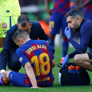 Jordi Alba lesió EFE